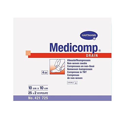 Medicomp drain steril 10x10 cm, 25 x 2 Stück