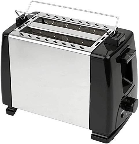 JIEJIE Hogar 600W Fabricante eléctrico Parrilla eléctrica Sandwich automático Menúrgico de la Ranura Ancha 2 Rebanada con Pop Up Rebast Funciones de descongelación QIANGQIANG