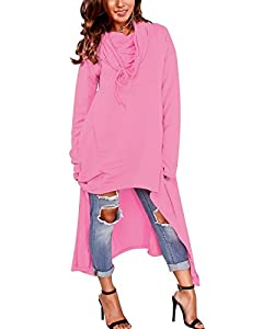 Gikim Women's Plus Size Dress Loose Fit Hoodies Pullover Sweatshirt with Pockets