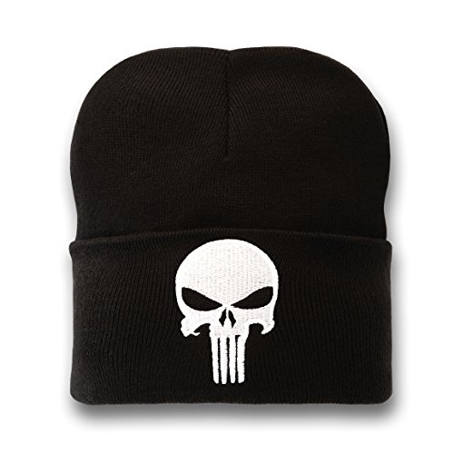 Marvel Unisex Punisher Strickmütze, Schwarz, One Size