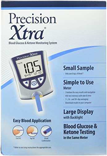 DSS Precision Xtra Blood Glucose Meter Kit, Results in 5 seconds, Strips Not Included (1 Kit)