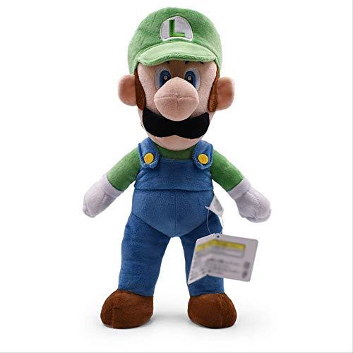 Super Mario Bros Green Standing Luigi Plush Toy, Soft Peluche Doll Kids 35Cm