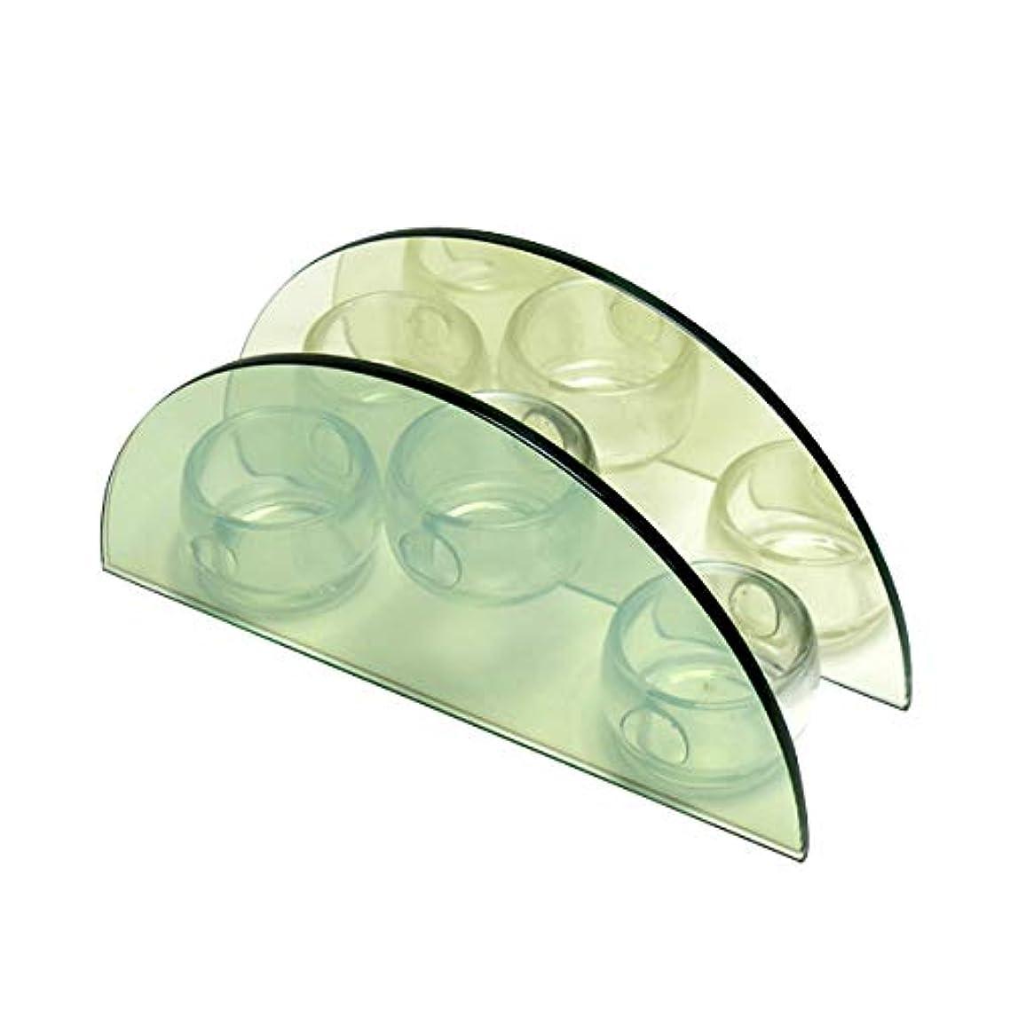 オークランド漁師白菜無限連鎖キャンドルホルダー セミサークル ガラス キャンドルスタンド ランタン 誕生日 ティーライトキャンドル