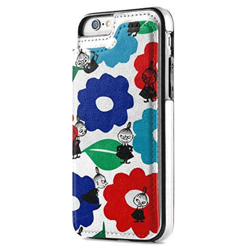 ムーミン iPhone SE ケース [第2世代] / iPhone8 / iPhone7 カード収納 手帳型 背面 レザーケース ICカード収納 軽量 スタンド機能 耐衝撃 滑り防止 高級PUレザー 多機能スマホケース 携帯カバー