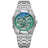 ZFAYFMA Diseño mecánico Bezel Black Watch Reloj de los Hombres...