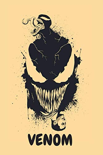 venom notebook: marvel notebook/journal :200 lined pages , 6x9