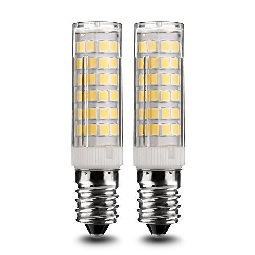 E14 LED Glühlampe, Standard E14 Glühlampe, 7W / 500LM warm weiß 3000K, 360 ° Strahlwinkel Kühlschranklampe/Nähmaschinenlampe/Wandlampe/Tischleuchte/Kronleuchter [Energieklasse A+]