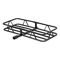 ENHANCED SECURITY. This trailer hitch cargo carrier keeps your items secure during travel, featuring 6-inch high walls around the cargo basket. These walls can be used to fasten a cargo net or cargo bag ADAPTABLE. This cargo hitch carrier comes with ...