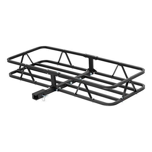 CURT 18145 48 x 20-Inch Basket Hitch Cargo Carrier, 500 lbs Capacity, Black Steel, 1-1/4, 2-In Adapter Shank