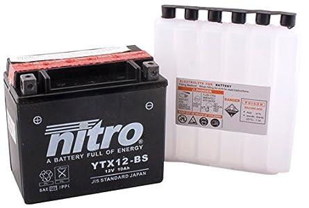 Nitro YTX12-BS -N Batería de ácido sólido, 12V, 10AH