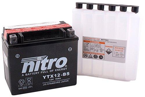 Preisvergleich Produktbild NITRO YTX12-BS -N- Batteries Schwarz (Preis inkl. EUR 7, 50 Pfand)