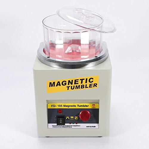 Magnetischer Schmuckpolierer Finisher Super Finishing Polieren Poliermaschine Tumbler Poliermaschine Einstellbare Frequenz 2000U/min - 220V