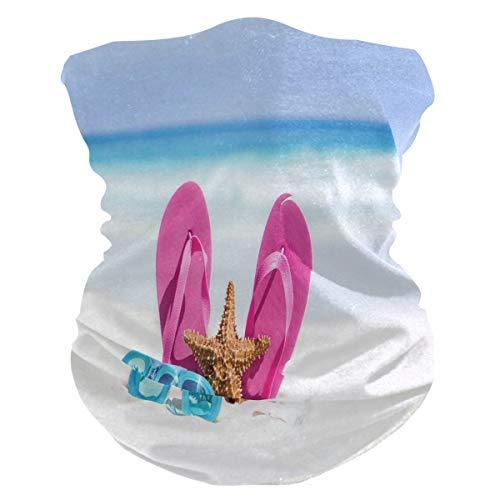 Bigjoke Masque anti-UV pour femme et homme Motif étoiles de mer