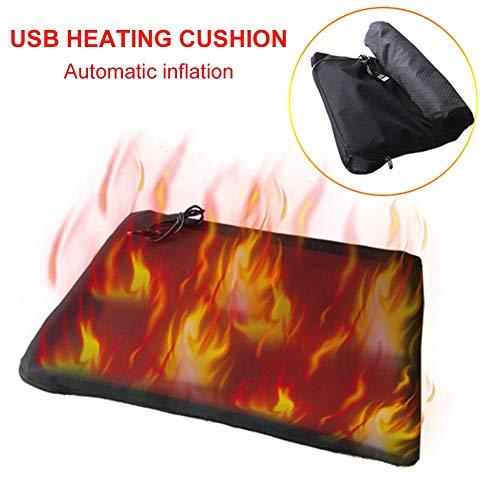 evergremmi Sitzheizung Pad, USB automatische aufblasbare Auto beheizte Sitzkissen mit Shift-Timing-Schalter für Outdoor-Winter Angeln Ski, Büro, Auto