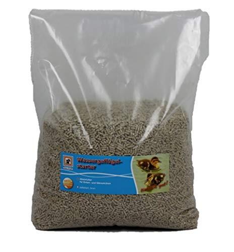 BASU Wassergeflügel-Starter 7 kg - pelletiertes Alleinfutter für Küken von Enten und Gänsen in den ersten Lebenswochen