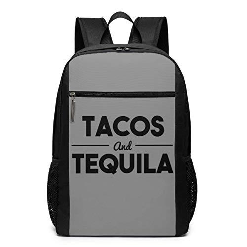 AOOEDM Mochila Tacos & Tequila Mochila para portátil de 17 Pulgadas Mochila para Ordenador Escolar
