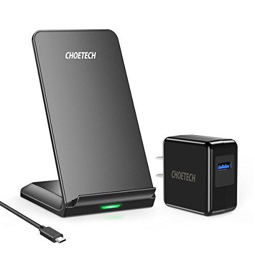Cargador Inalámbrico Rápido,CHOETECH Qi Wireless Charger Soporte,10W Carga Rápida para Samsung Note 10…