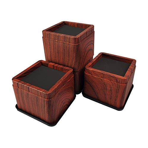 aspeike 4 Pack 3 INCH Stackable Bed and Furniture Risers, Heavy Duty...