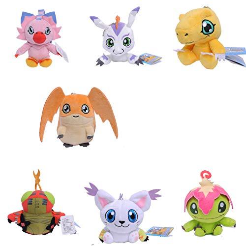 Zpong 7 Pz / Set 12 Cm Mini Digimons Digita Drago Dinosauro Agumon Gabumon Gomamon Biyomon Palmon Patamon Bambola Di Pezza Bambola Di Peluche