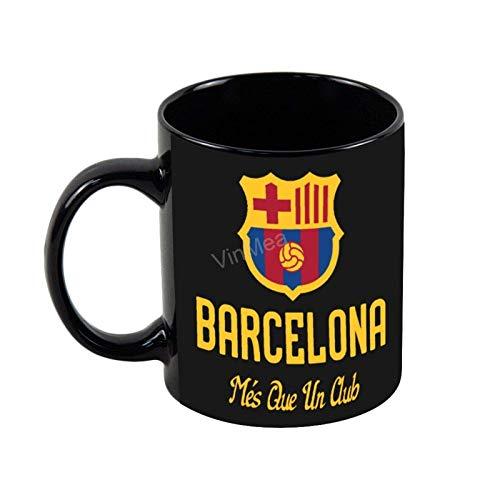 N\A Tazas de café Divertidas Taza de café del FC Barcelona Taza de café Negra de 11OZ