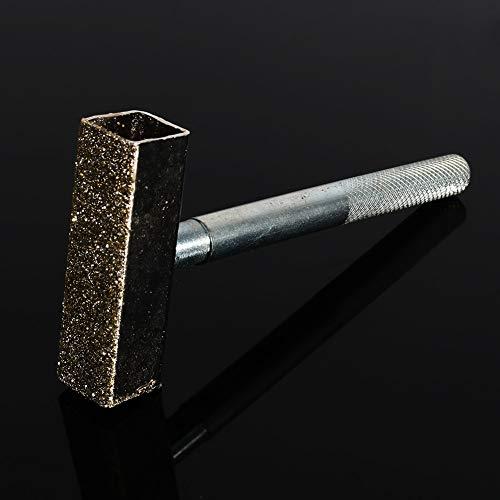 Hochwertiger, langlebiger T-förmiger Schleifscheibenabrichter, Diamantschleifscheibenabrichter, Metallstabiles Abrichtwerkzeug zum Entgraten von Rädern 8,5 cm Abrichtschleifen