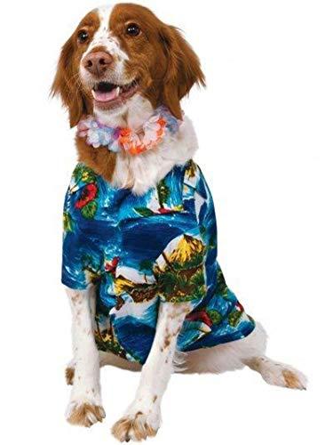 Rubis Officielle Pet Costume pour Chien largeulau pour Homme et Hawaiian lei – Taille M