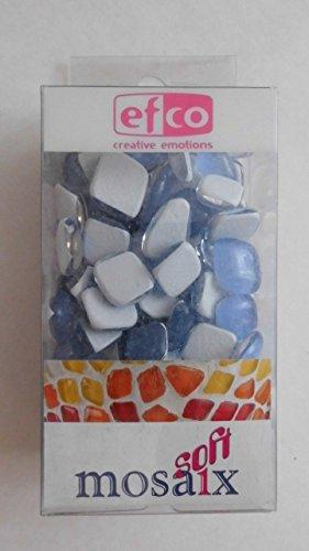MosaixSoft 8–25 x 25 x 5 mm 200 g Boîte en Verre, carrelage, Bleu Clair