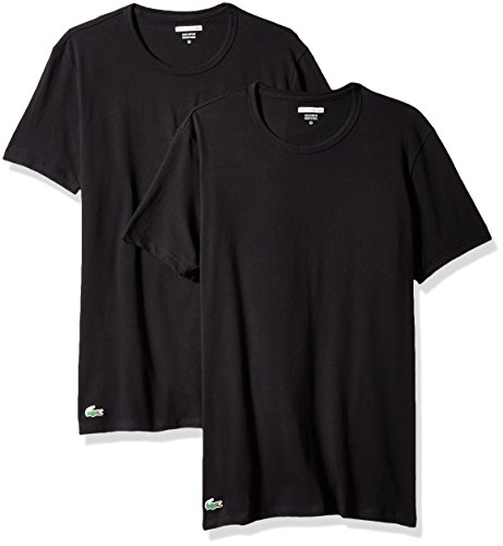 Lacoste Herren 2PK Cotton Stretch Slim FIT Crew Neck Tee T-Shirt, schwarz, X-Groß (2er Pack)