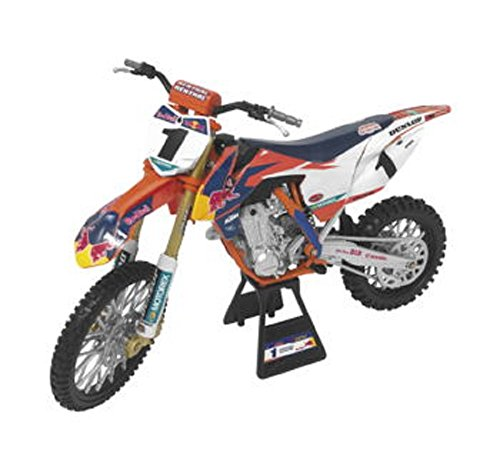 """Orange Cycle Parts Die-Cast Replica Toy 1:10 Scale Model Red Bull 450SX-F Ryan Dungey """"Championship Edition"""" by NewRay 57953"""