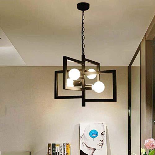 Deckenleuchte Elegante einfache Deckenleuchte Retro Industrie Kronleuchter Persönliche geometrische Modellierung Restaurant Küche Wohnzimmer Eisen Kronleuchter Lampe Spotlampe E27 5