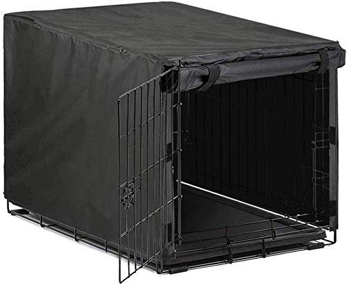 Avanigo Black Dog Crate Cover for 42 Inch Metal Crates Wire Dog Cage,Pet Indoor/Outdoor Durable Waterproof Pet Kennel Cover Covers Kennel