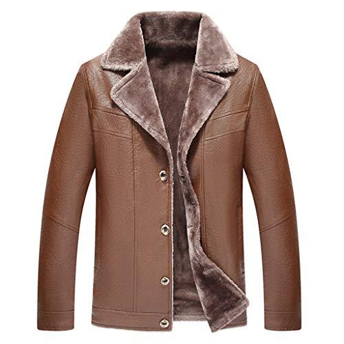 1 – 1 voor heren, leer, herfst, modern, winterjas, dik, verwarmt biker, top, heren, outdoor, maat Plus Trench.