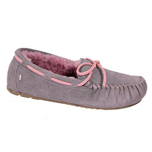 Emu ,  Damen Durchgängies Plateau Sandalen mit Keilabsatz , rosa - Ash/Pink - Größe: 36.5
