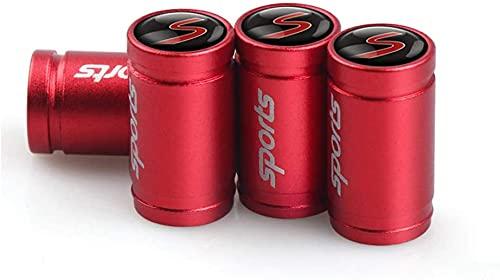 4 Piezas Tapas de Válvula de Neumáticos de Coche para Mini S R55 R56 R57 R58 R59 R60 R61 F54 F55 F56 F60, Anti Polvo Resistente Agua Tapas para Válvulas Decoración Accesorio