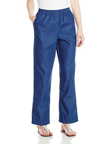 Alfred Dunner Women'S Petite Short Denim Pant, Denim, 6P
