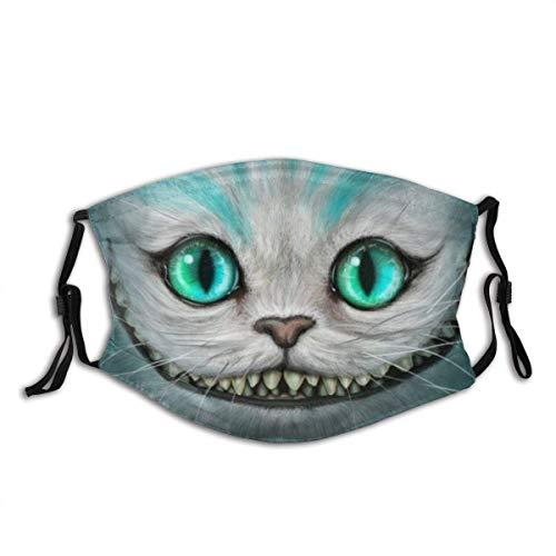 Grinsekatze mit großem Mund Staub waschbar wiederverwendbar Filter und wiederverwendbar Mund warm winddicht Baumwolle Gesicht