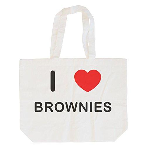 I Love Brownies - Bolsa de Compras de algodón Maxi