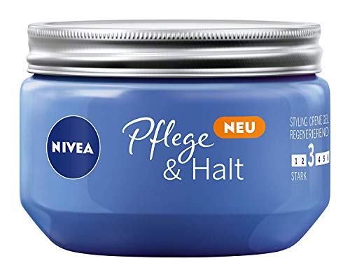 NIVEA Haar-Gel, Styling Creme Gel, Starker Halt, 150 ml Tiegel, Pflege & Halt