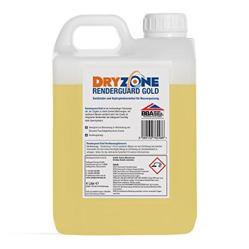 Dryzone System - Renderguard Gold (4L) Salzbinder und Hydrophobiermittel für Neuverputzung