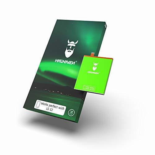 Batería Hagnaven® Li-polímero para LG G2 | Potente Batería Premium | 3100 mAh | ENERGÍA arrolladora | Celdas Mayor AUTONOMÍA | Sustituye BL-T7