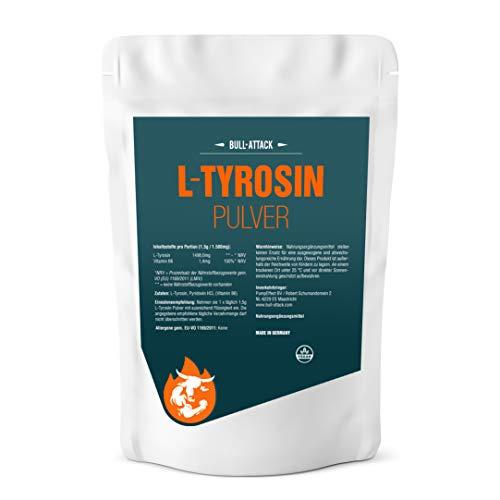 L-TYROSIN PULVER | 250g Pulver | L-Tyrosin + Vitamin B6 | Muskelaufbau + Gehirnleistung | Top Qualität (250g)