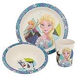 Frozen - Die Eiskönigin Elsa Kinder-Geschirr Set mit Teller, Müslischale und Tasse   Frühstücks-Set