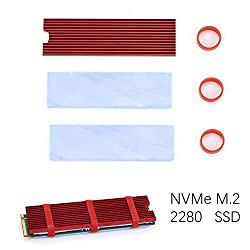 M.2 Heatsink Cooler for NVMe or SATA 2280 SSD Aluminum Heat Sinks with Silicone Thermal Pad
