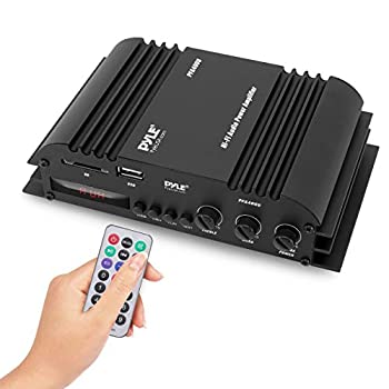 Class-T HiFi Power Audio Amplifier - 100W Dual Channel Surround Sound Stereo Receiver Box w/ USB RCA 12V Adapter - For Subwoofer Speaker iPhone Home Theater PA System - Pyle PFA400U