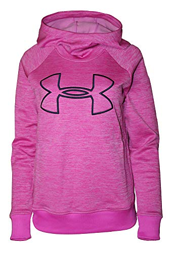 Under Armour Womens Hoodie Active Big Logo Pullover (Pink Heather, X-Small)