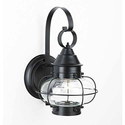 Norwell Lighting 1324 Large Cottage Onion Wall Lamp (Black)