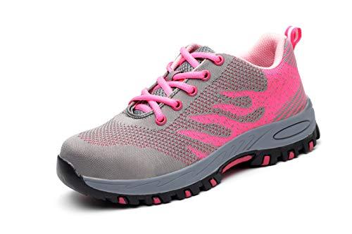 Axcer Hombre Mujer Industria Construcción Zapatillas de Seguridad con Puntera de Acero...