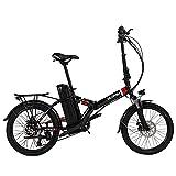 VARUN 20' Klappbares E-Bike für Damen Herren, Faltbares E-Citybike mit 36V 10.4Ah Abnehmbar Akku, EU-konform 250W Motor 25 km/h, Shimano 7 Gang-Schaltung, Pedelec Mountainbike
