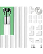Upgrade Cable Concealer, PVC Cord Cover, 94.5in Paintable Cord Hider to Hide Wires for TV and Computers in Home Office 6X L15.75in W1.18in H0.67in, CC02 White