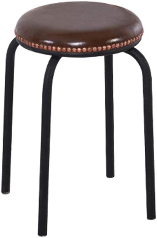 Creative Bar Chair European Bar Chair Lift Bar Chair Home Backrest High Stools Can Be redated Simple GFMING (color   Crimson)